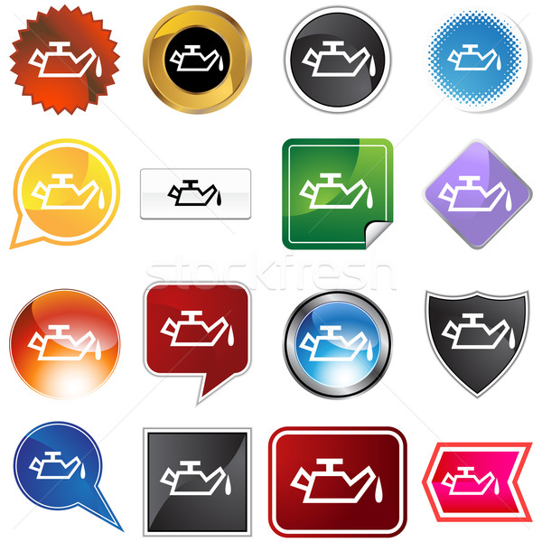 Oil Alert Icon Set Stock photo © cteconsulting