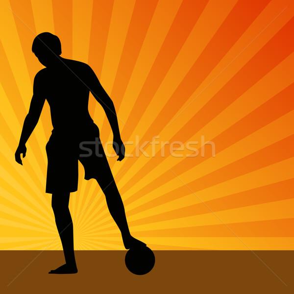 Sunrise Soccer Player Stock photo © cteconsulting