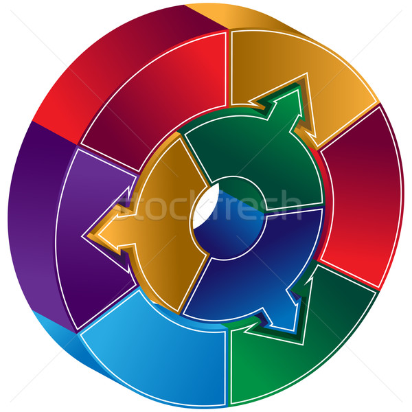 Process circle diagram arrows vector illustration john takai add to lightbox download comp ccuart Choice Image