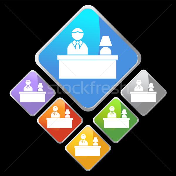 Fronte desk immagine persona seduta design Foto d'archivio © cteconsulting