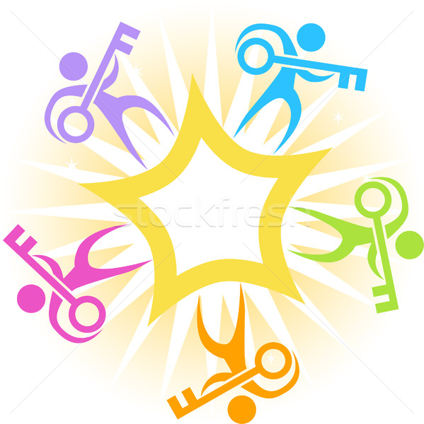 Key Star Burst Icon Stock photo © cteconsulting