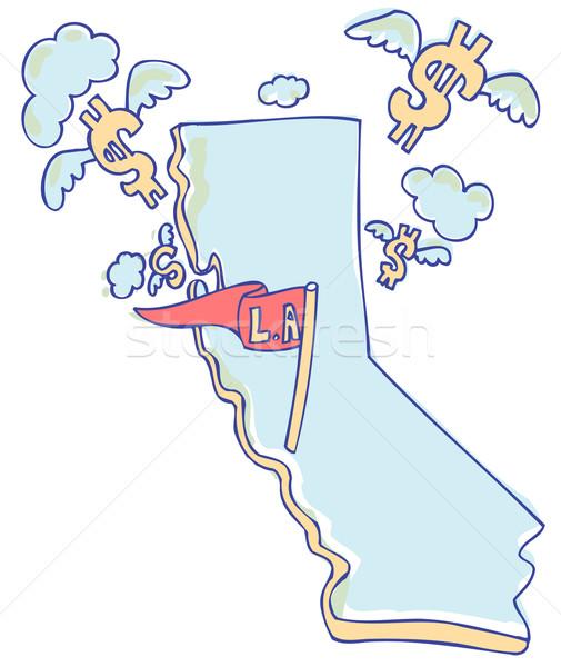 Kalifornia közgazdaságtan gazdaság pénz repülés messze Stock fotó © cteconsulting