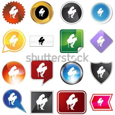 スイマー セット 孤立した 白 スポーツ ストックフォト © cteconsulting