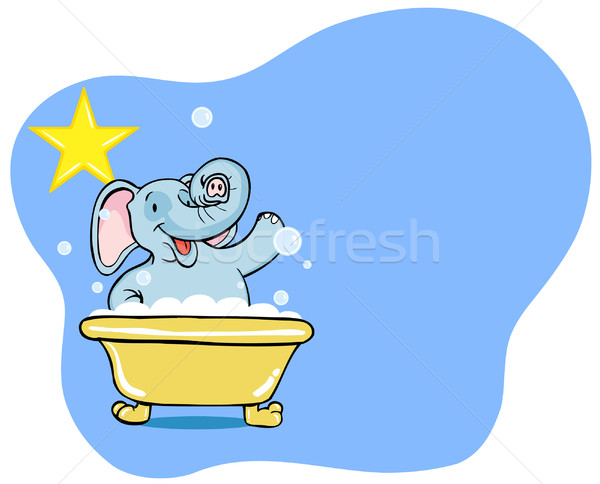 Elephant Bath Star Stock photo © cteconsulting