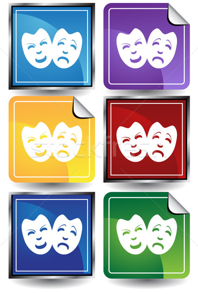 Comedy Masks Stock photo © cteconsulting