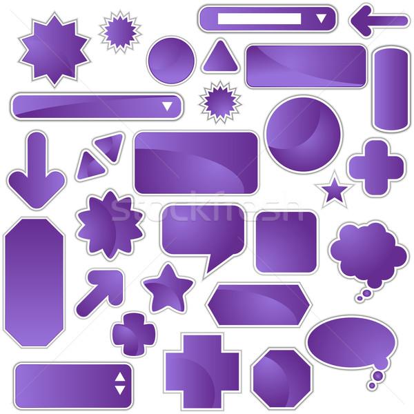 Blank Label Set Stock photo © cteconsulting