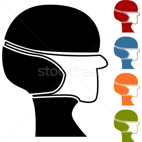 Máscara cirúrgica isolado branco homem médico Foto stock © cteconsulting