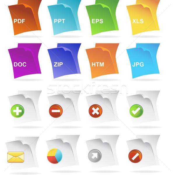 Document Icons Stock photo © cteconsulting
