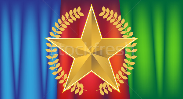 Gold Star with Drapery Stock photo © cteconsulting