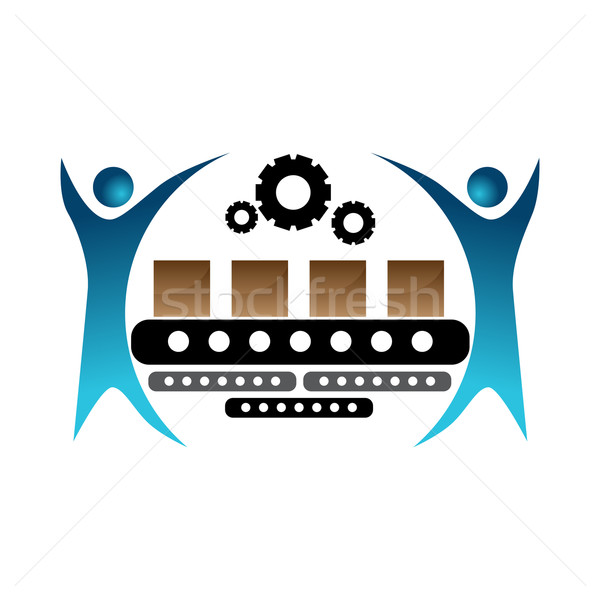 Manufacturing Team Icon Stock photo © cteconsulting