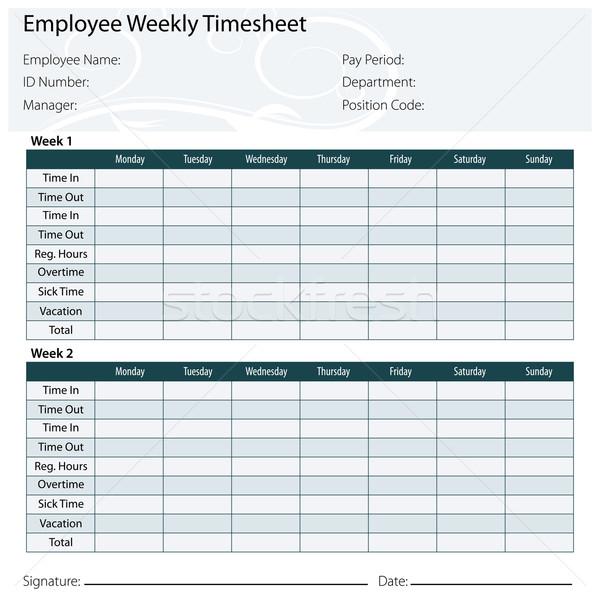 Employee Timesheet Template Stock photo © cteconsulting