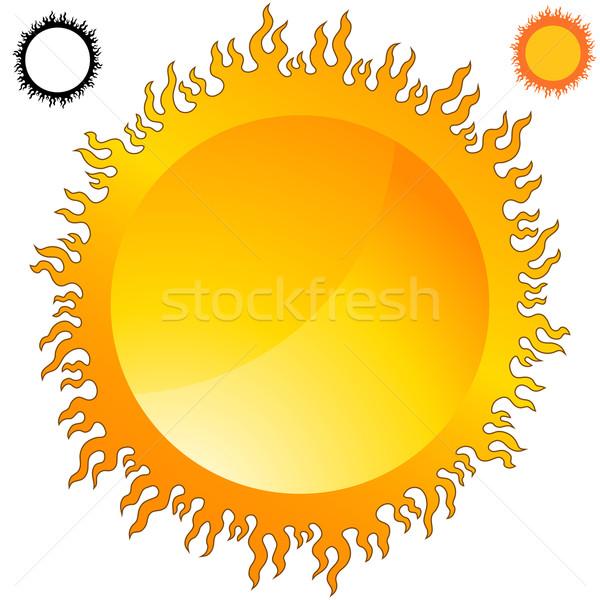 Ateşli güneş görüntü alev dizayn Stok fotoğraf © cteconsulting