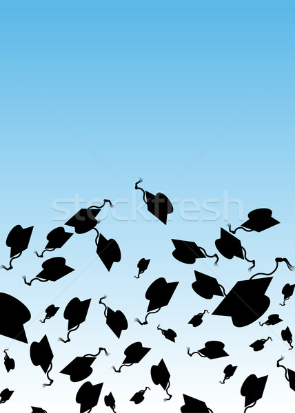 Graduation Hat Toss Stock photo © cteconsulting