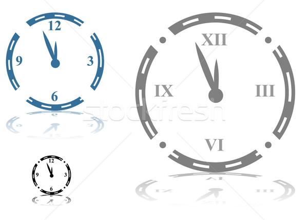 Clock immagine arte guardare ombra Foto d'archivio © cteconsulting