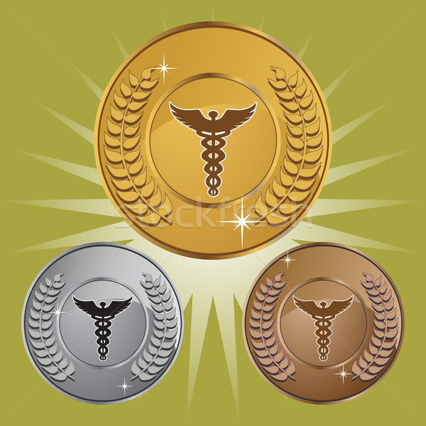 Stock photo: Caduceus Medical Symbol