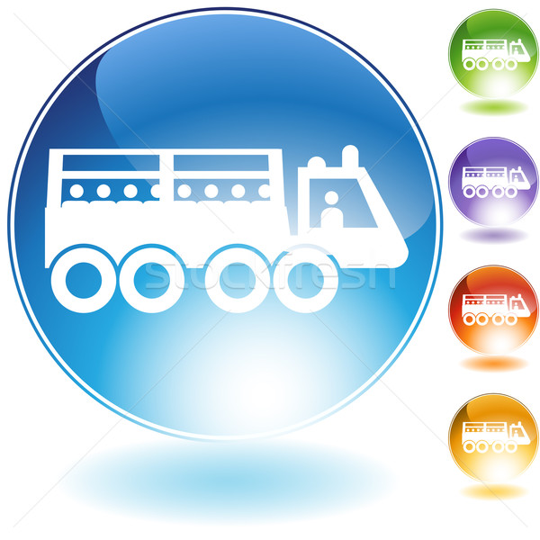 Transport Vehicle Crystal Icon Stock photo © cteconsulting