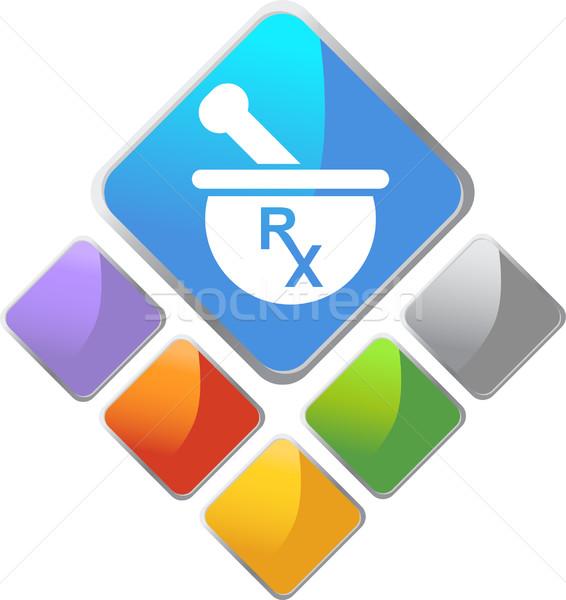 Rx símbolo imagem droga medicina pedra Foto stock © cteconsulting