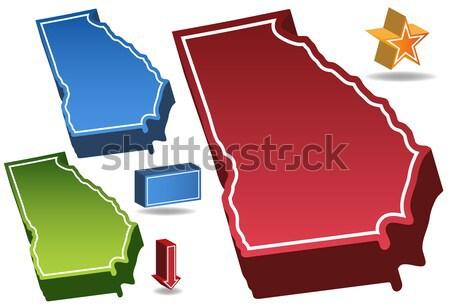 Stok fotoğraf: Missouri · 3D · ayarlamak · simgeler · harita