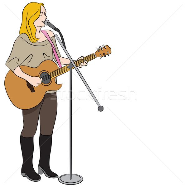 Femenino país occidental cantante imagen Cartoon Foto stock © cteconsulting