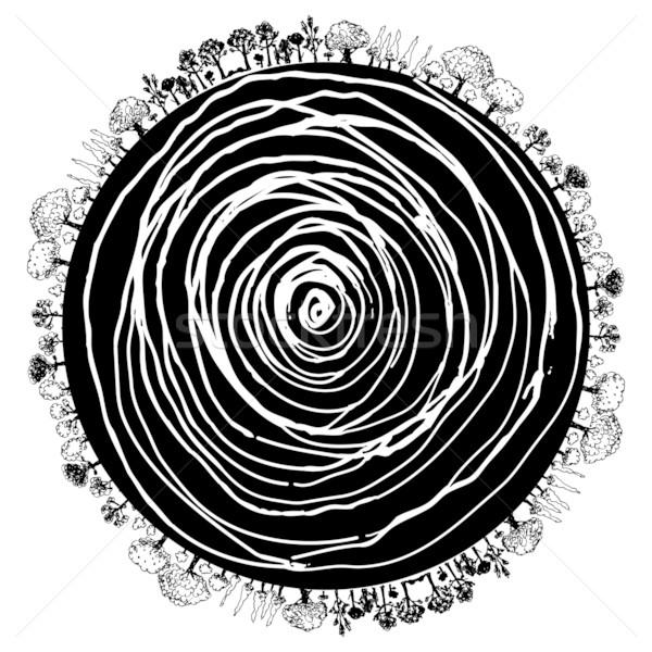 Ağaç kök daire ikon görüntü Stok fotoğraf © cteconsulting