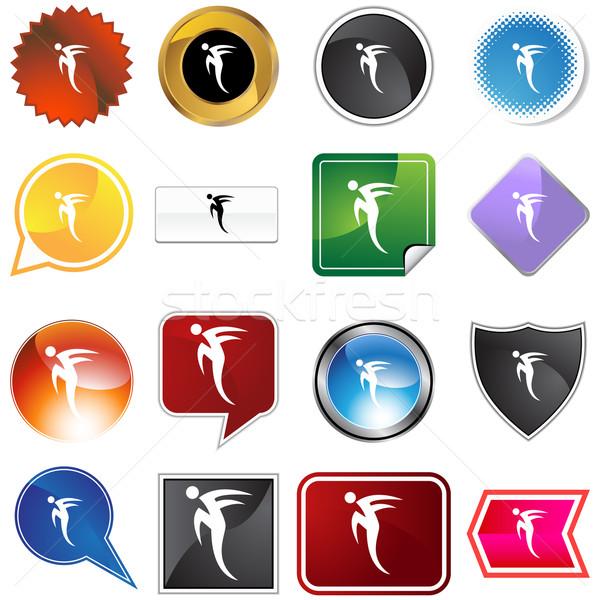 Haast stap danser variëteit ingesteld geïsoleerd Stockfoto © cteconsulting