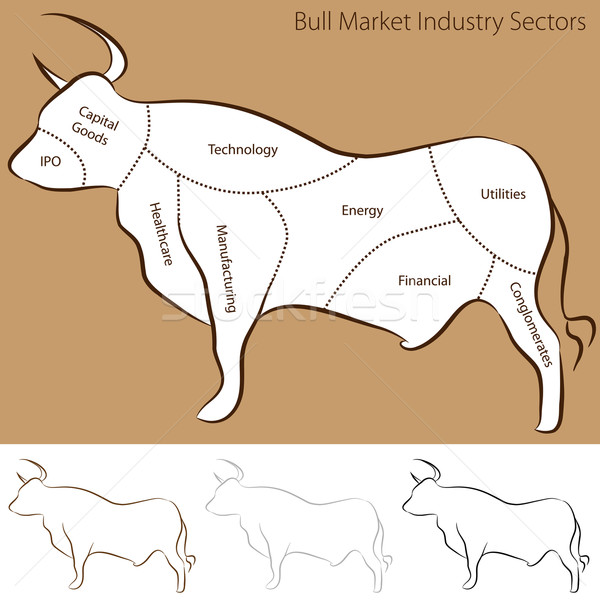 Bull Market Industry Sectors Stock photo © cteconsulting