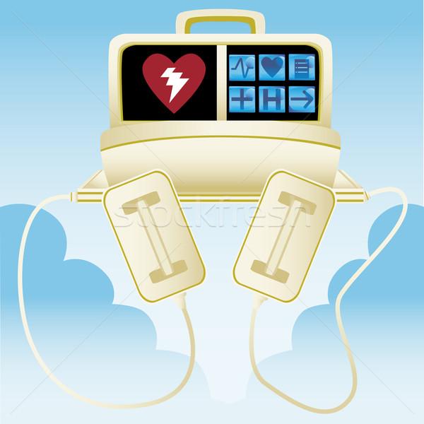 сердце дефибриллятор медицинской кто-то сердечный приступ Сток-фото © cteconsulting