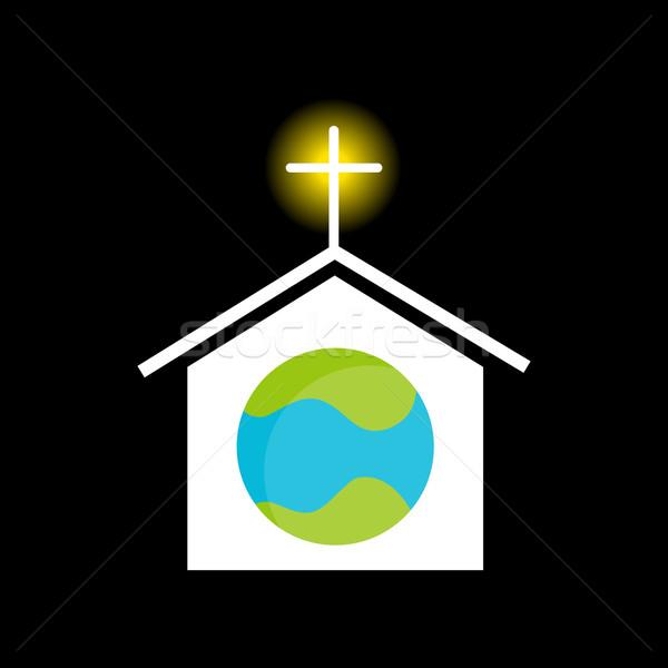 Religione mondo immagine chiesa culto pianeta Foto d'archivio © cteconsulting