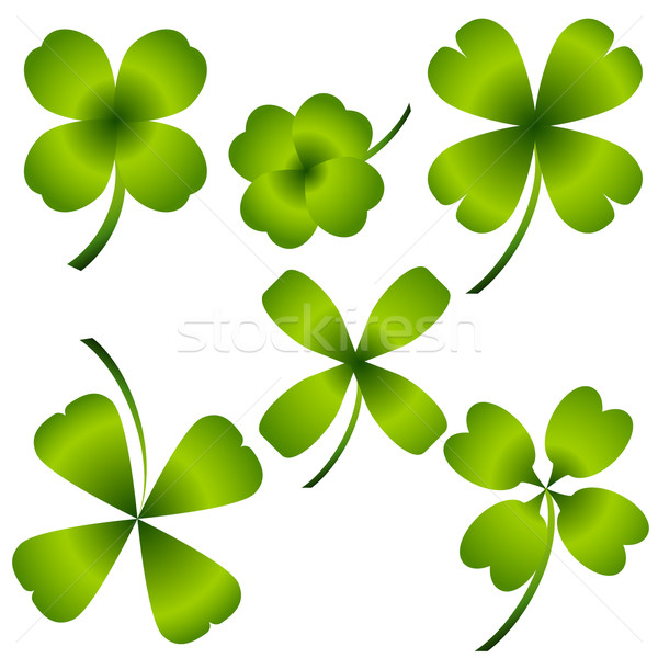 Four Leaf Clover Set Stock photo © cteconsulting