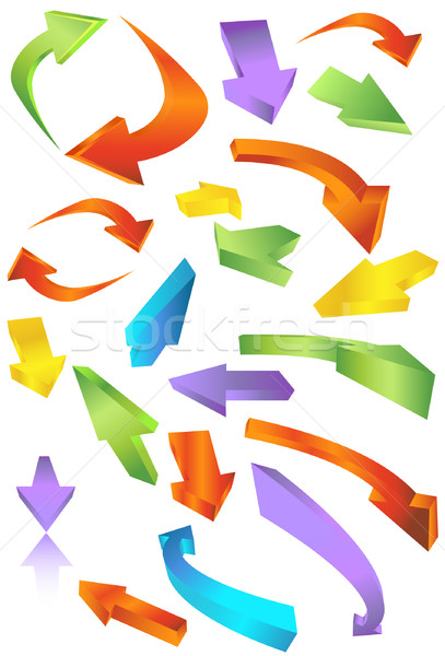 Directional Arrow Icons Stock photo © cteconsulting