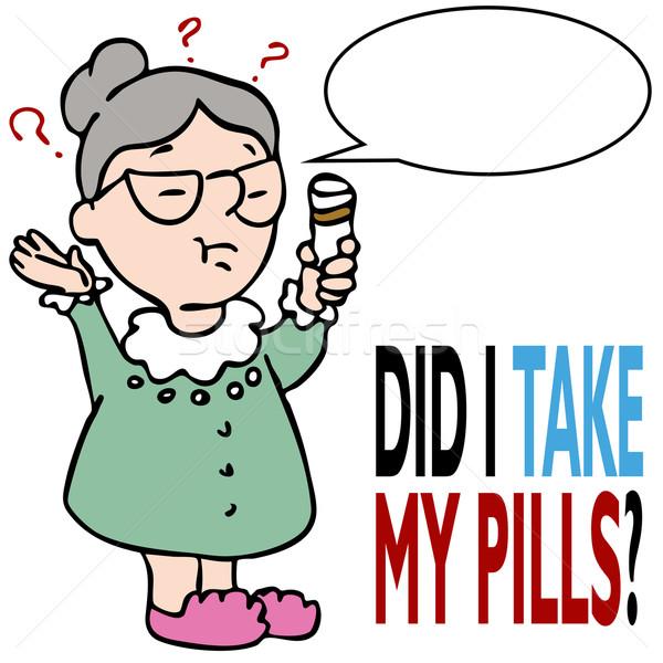 Vrouw geneeskunde afbeelding gezondheid Stockfoto © cteconsulting