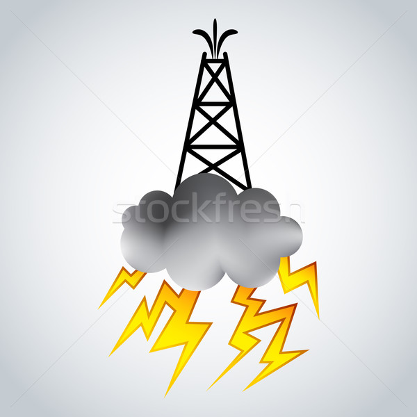 Fracking Oil Rig Symbol Stock photo © cteconsulting
