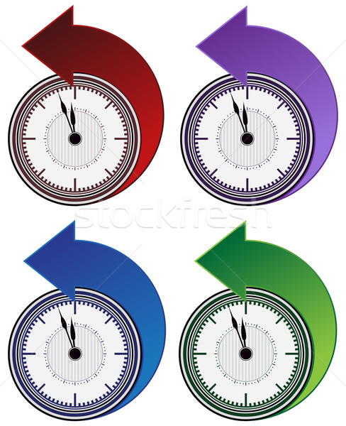 Backwards Clock Arrow Set Stock photo © cteconsulting