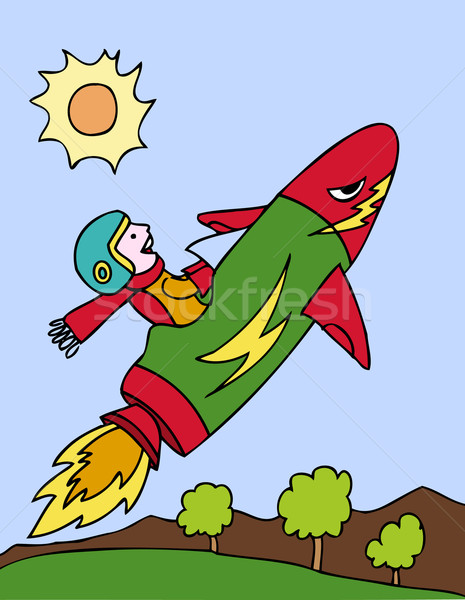 Kid on Rocket Ship Stock photo © cteconsulting