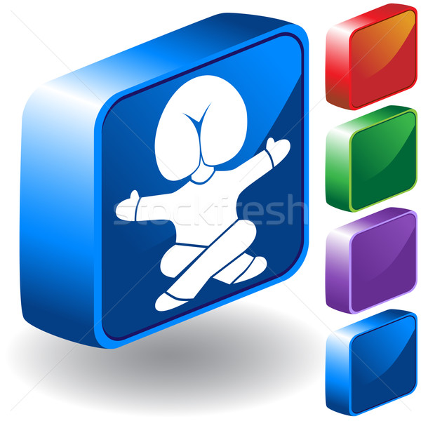 Head in Butt 3D Icon Stock photo © cteconsulting