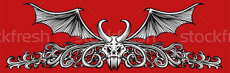 Demônio fronteira monstro quadro arte Foto stock © cteconsulting