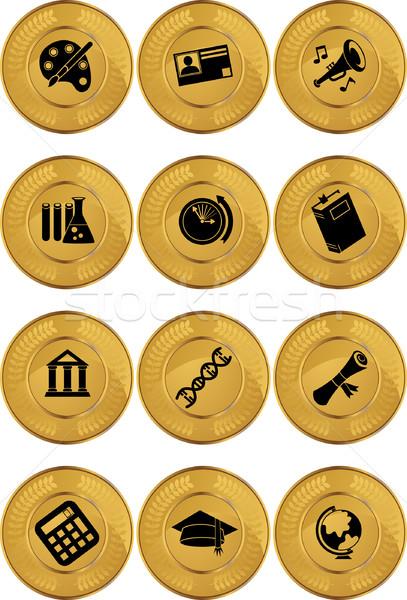 Onderwijs onderwijs iconen muziek boek Stockfoto © cteconsulting