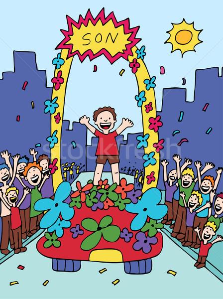 Syn parada świętować dzieci ulicy projektu Zdjęcia stock © cteconsulting
