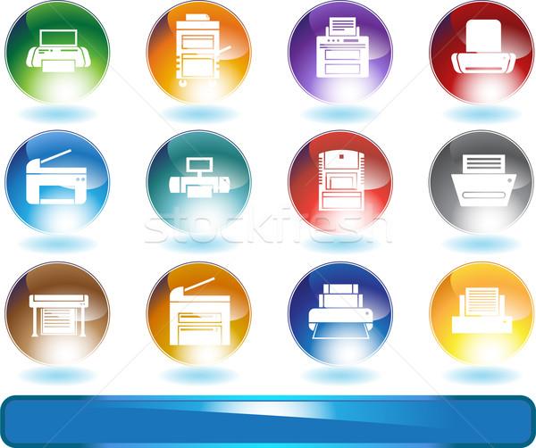 Stock photo: Printer Icons