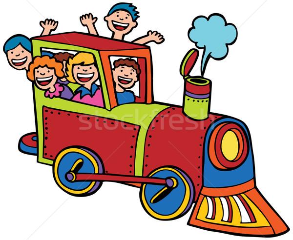 子 列車 グループ 子供 ライディング ストックフォト © cteconsulting