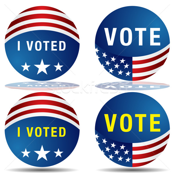 Vote Icon Set Stock photo © cteconsulting