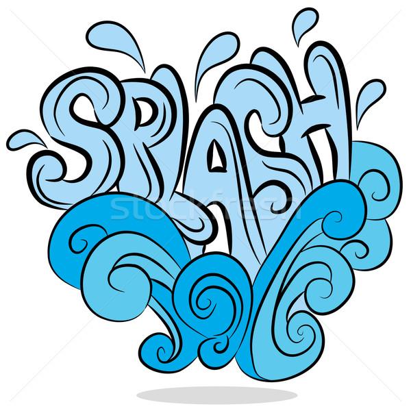 Water Splash Sound Effect Text vector illustration © John Takai