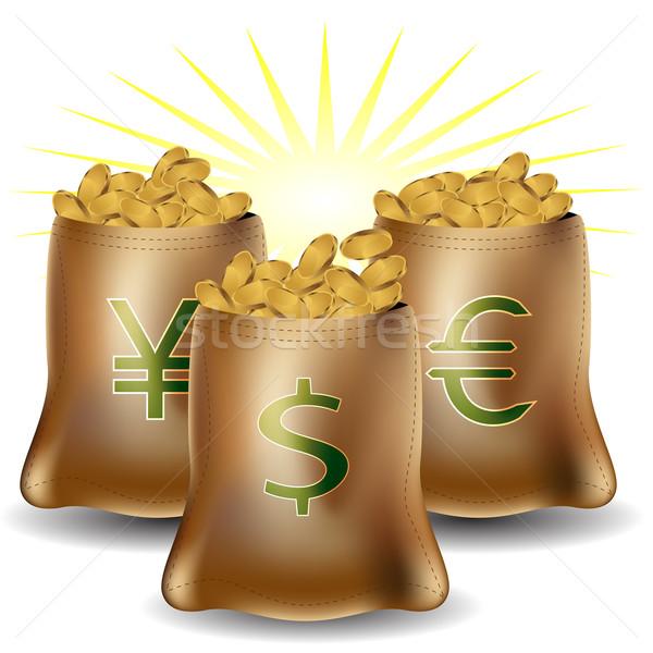 деньги знак мешки изображение различный иностранная валюта Сток-фото © cteconsulting