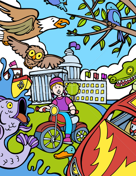 Child Adventure: Bike Ride Stock photo © cteconsulting