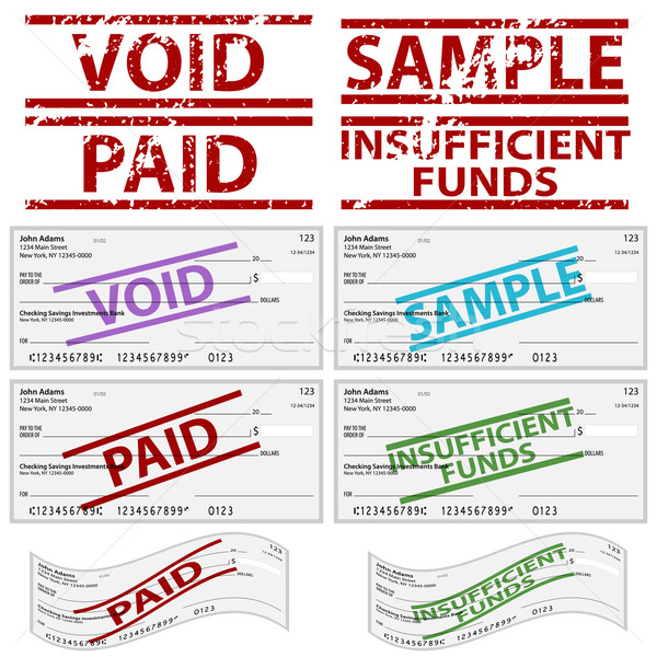 Stamped Personal Checks Stock photo © cteconsulting