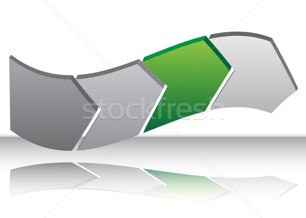 Green Arrow Warp Chart Stock photo © cteconsulting