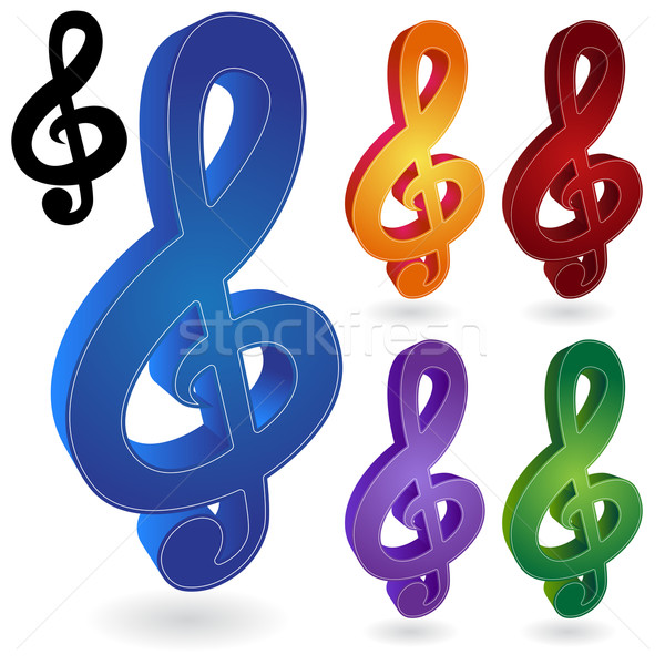Music Notes Stock photo © cteconsulting