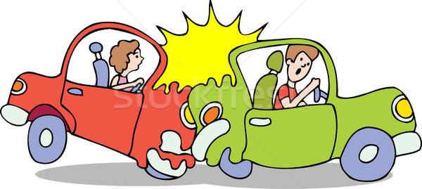 車 クラッシュ 女性 車 ストックフォト © cteconsulting