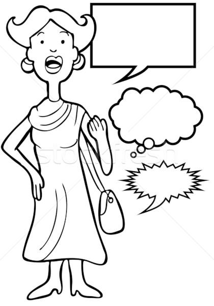 Speaking Woman Stock photo © cteconsulting