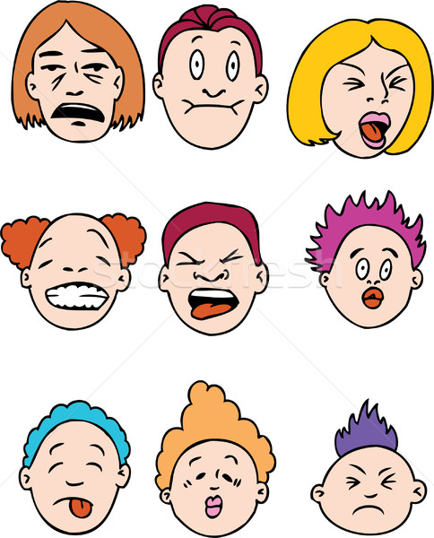 Sour Faced People Stock photo © cteconsulting